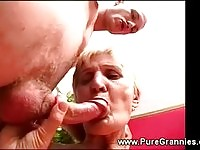 A nasty granny getting fucked