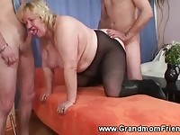 Granny getting young cock!