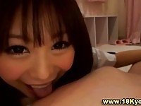 Young asian in hand job