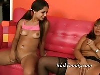 Mom and daughter love the same cock