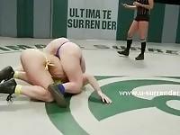 Lesbian wrestling babes