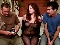 Real european prostitute gagging a customer cock
