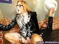 Sexy slut in slimewave