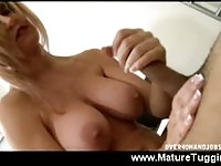 Busty blonde mom jerking