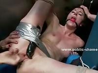 Sluts forced to funck in public