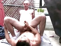 Horny Asian gay gets his ass screwed in public