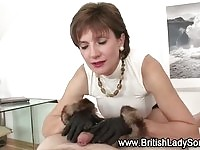 Massive titty cougar mom milking young cock for cum