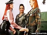 Strickt lesbian want discipline and jizz from her female troops