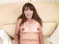 Asian milf fingered then sucks cock for lucky guy