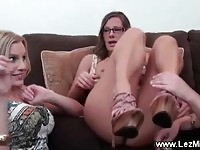 Lesbian cant resist her horny friends advances