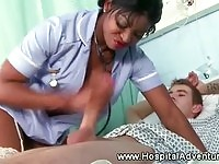 Rounded booty ghetto nurse gets nailed in the hospital