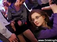 European babes gagging cocks on party