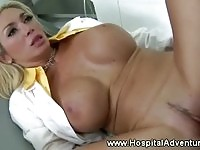 Lucky patient fucks huge boobs doctor