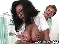 Two nurses in tit job