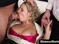 Classy socialite babe in double cock penetrations