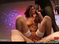 A nasty brunette in group action