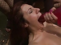 A redhead slave gets penetrated