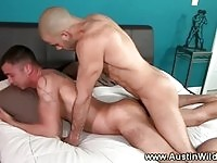 Bold couple in anal sex