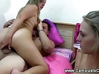 Sweet dorm orgy action