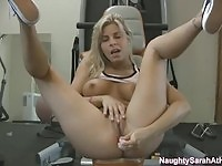 Naughty Sarah  toying asshole