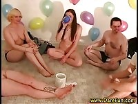 Hot teens in dare fun game