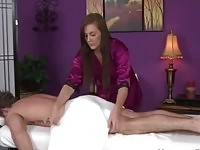 Amateur beauty rubbing some guy