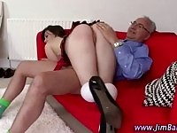 A hot schoolgirl gets fucked