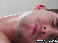 Ass screwed twink masturbating own cock