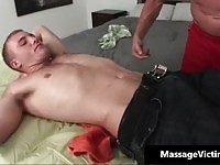 Straight dude receives soothing body massage before anal fuck