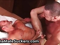Extremely hot gay men sucks and fucks each other