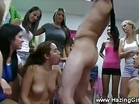 Hazed nude college girls forced to suck cock