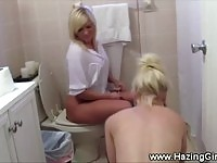 Sexy nude teen pledgers cleaning