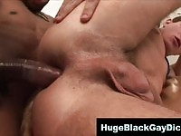 Dude gets to fuck a huge black cock