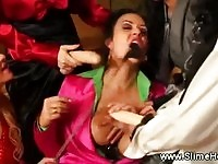 Naughty slut punished by femdom queens