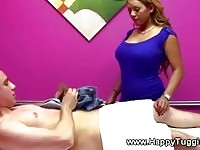 Busty asian in massage action