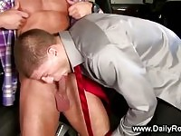 Driver suking on his master cock