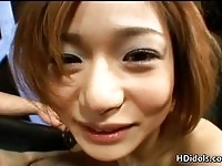 Small tits Tsubomi Kanno gives a breathtaking blowjob