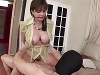 Kidnapper fucks and jizzes mature hottie