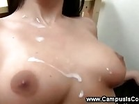 College babes group fucking in their dorm