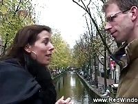 Tourist gets a Amsterdam tour before he picks a hooker