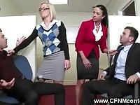Office ladies forcing oral sex