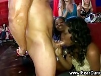 Black real cfnm hottie gets a hot facial