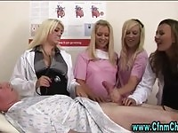 Nurses and docs wanking patient