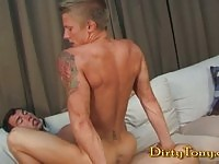 Hot dudes in anal action