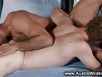 Cock sucking twinks get his ass licked by jock