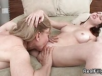 Young lesbian gets some old pussy in hete