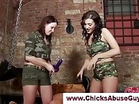 Military femdom mistresses strapon fucks guy