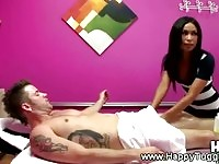 Stunning masseuse convinces her client for an upgrade