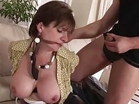 Big tits mature slut gets plenty of cock action to play with
