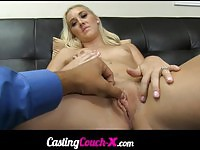 Gorgeous newbie chick fucked and jizzed
